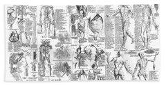Anatomy Of The Human Body  1728 Hand Towel