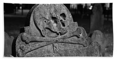 Ancient Gravestone Bath Towel