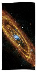 Andromeda Galaxy Hand Towel by Adam Romanowicz