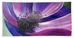 Anemone Coronaria Hand Towel by Claudia Goodell
