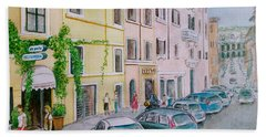 Anfiteatro Hotel Rome Italy Hand Towel by Frank Hunter