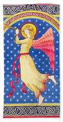 Angel Blowing Trumper Bath Towel