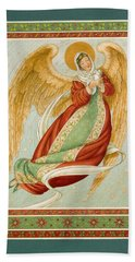 Angel In Green Slippers Hand Towel