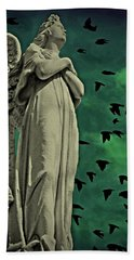 Angel Of Stone Hand Towel