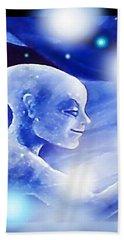Angel Portrait Bath Towel by Hartmut Jager