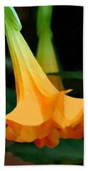Angel Trumpet Hand Towel