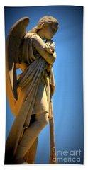 Angel Watching Bath Towel