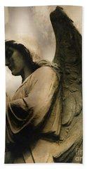Angel Wings Praying - Spiritual Angel In Clouds Hand Towel