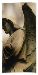 Angel Wings Praying - Spiritual Angel In Clouds Bath Towel
