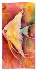 Angelfish II Hand Towel by Hailey E Herrera