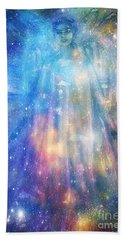 Hand Towel featuring the painting Angelic Being by Leanne Seymour