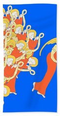 Angelic Chorale Of Horns Hand Towel by Donna Huntriss