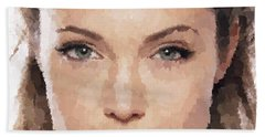 Angelina Jolie Portrait Bath Towel