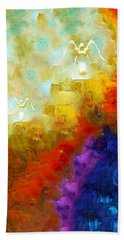 Angels Among Us - Emotive Spiritual Healing Art Hand Towel