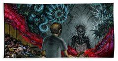 Anger Only Feeds The Monster Inside You Bath Towel