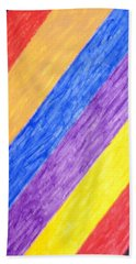 Hand Towel featuring the painting Angles by Stormm Bradshaw