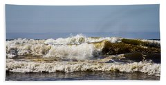 Beach Hand Towel featuring the photograph Angry Ocean by Aaron Berg