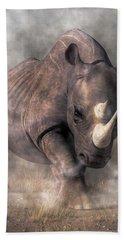 Angry Rhino Hand Towel