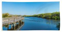 Anhinga Trail Boardwalk, Everglades Hand Towel