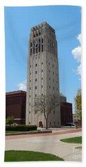 Ann Arbor Michigan Clock Tower Hand Towel