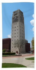 Ann Arbor Michigan Clock Tower Bath Towel by Phil Perkins