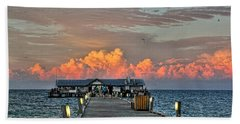 Anna Maria City Pier Hand Towel by HH Photography of Florida