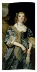 Anne Carr, Countess Of Bedford, C.1638 Hand Towel