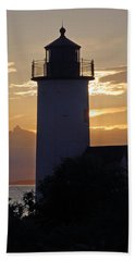 Annisquam Lighthouse Sunset Bath Towel by Richard Bryce and Family