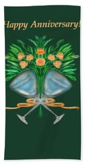 Hand Towel featuring the digital art Anniversary Bouquet by Christine Fournier