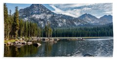 Anthony Lake Bath Towel by Robert Bales
