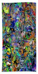 Hand Towel featuring the digital art Anthyropolitic 1 by David Lane