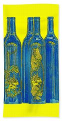 Antibes Blue Bottles Hand Towel