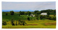 Antietam Battlefield And Mumma Farm Bath Towel by Patti Whitten
