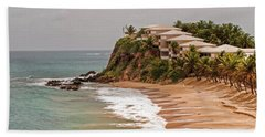Hand Towel featuring the photograph Antigua Coastline by Gary Slawsky