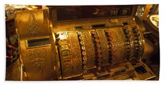 Hand Towel featuring the photograph Antique Cash Register by Jerry Cowart