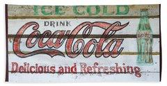 Antique Coca Cola Sign  Hand Towel