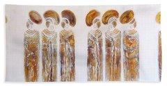 Antique Copper Zulu Ladies - Original Artwork Hand Towel