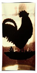 Antique Glass Chicken Silhouette Bath Towel