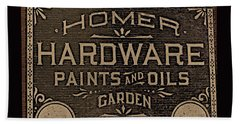 Antique Homer Hardware Bath Towel