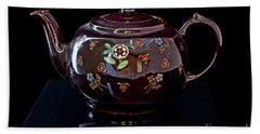 Antique Native American Teapot On Black Art Prints Bath Towel