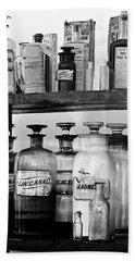 Antique Pharmacy Hand Towel by Phyllis Denton