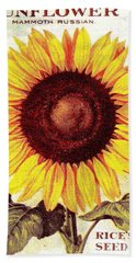Antique Sunflower Seeds Pack Hand Towel by Peter Gumaer Ogden