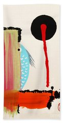 Hand Towel featuring the painting Ao - Gyo by Roberto Prusso