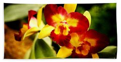 Aos Yellow Orchid 2 Bath Towel