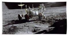 Apollo 15 Lunar Rover Hand Towel by Commander David Scott