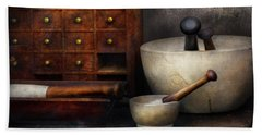 Apothecary - Pestle And Drawers Bath Towel