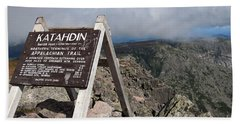 Appalachian Trail Mount Katahdin Hand Towel