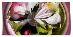 Apple Blossom Globe Bath Towel by Phyllis Denton