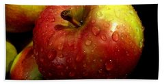 Apple In The Rain Hand Towel