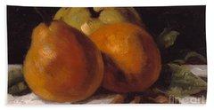 Apple Pear And Orange Hand Towel